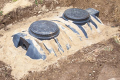 installation of septic tanks